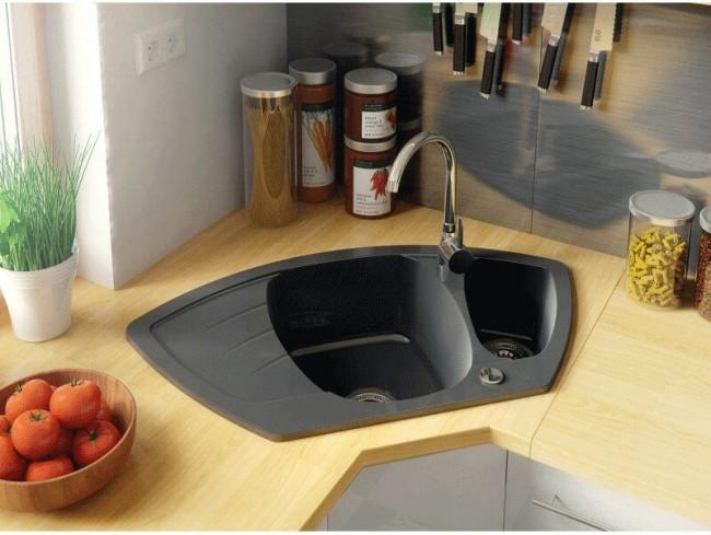 Gránit mosogató Catania - Fekete